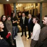 Presidente de la Diputación de Burgos con los finalistas