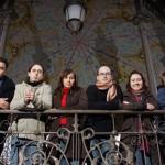 Foto de familia en el templete del Espolón