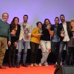 Foto de familia con los premios